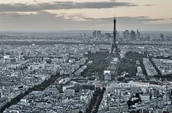 Paris from above. Stock Photo