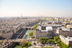 Paris from above with Eiffel tower in Backgroung, France Stock Images