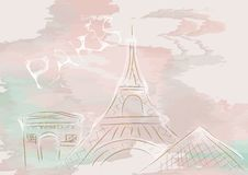 Paris, abstract skyline Stock Photography