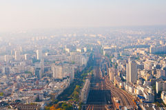 Paris aerial Royalty Free Stock Photos