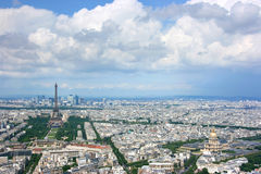 Paris aerial Royalty Free Stock Images