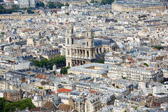 Paris aerial eglise Saint Sulpice church France Royalty Free Stock Photography