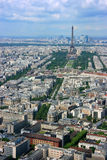 Paris aerial and Eiffel tower Stock Photo