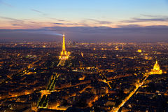 Paris aerial Royalty Free Stock Photo