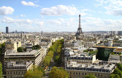 Paris aerial panorama Stock Photography