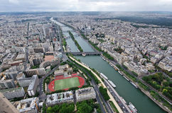 Paris, aerial view Stock Images