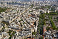 Paris aerial view Stock Image