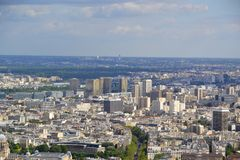 Paris aerial view Stock Photography