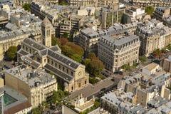 Paris aerial view Stock Images