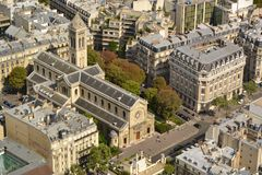 Paris aerial view Royalty Free Stock Photos