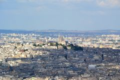 Paris aerial view. View from tour montparnasse Paris arerial view Royalty Free Stock Image