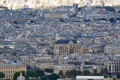 Paris aerial view Stock Images