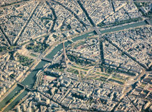 Paris aerial view with Eiffel Tower Stock Photography