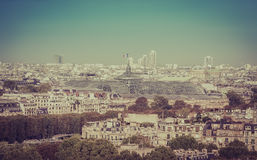 Paris aerial view Royalty Free Stock Photo