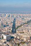 Paris aerial view from Montparnasse tower Stock Photo