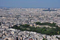 Paris aerial view from Montparnasse tower. France. Royalty Free Stock Photo