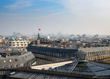 Paris. aerial View on roofs. Royalty Free Stock Photo