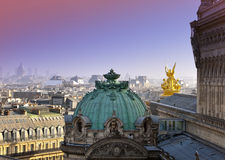Paris. aerial View on roofs Stock Photography
