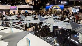 Paris Air Show Dassault visitors Stock Photos