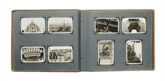Paris Album. Old album with (new) photos from Paris Royalty Free Stock Photography