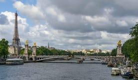 Paris, Alexander III Bridge stock image