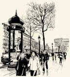 Paris - Alleen-DES Champs-Elysees Stockfotografie