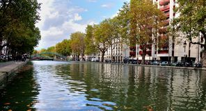 CANAL SAINT MARTIN, PARIS, FRANCE Royalty Free Stock Image