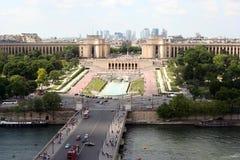 Paris, Ansicht über das Trocadero Stockfotos