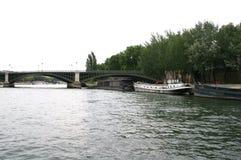 Paris-Ansicht vom Fluss Stockbild