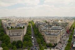 Paris-Ansicht von der Spitze Arc de Triomphe s Lizenzfreies Stockfoto