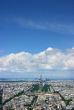 Paris-Antenne Lizenzfreie Stockfotografie