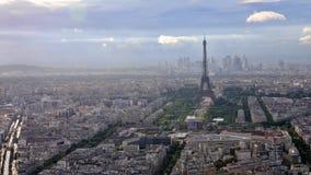 Paris antennhorisont arkivfilmer