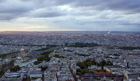 Paris antes do por do sol Imagem de Stock
