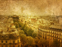 Paris antiquado fotografia de stock