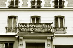 Paris antique apartment balcony Stock Images