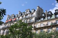 Paris apartment building Stock Image