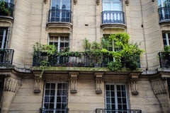 Paris apartment building Stock Images