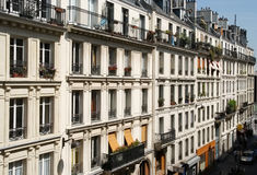 Paris Apartments. Apartments in a Paris neighbourhood royalty free stock photography