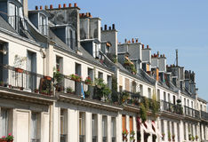 Paris Apartments. Apartments in a Paris neighbourhood royalty free stock photo