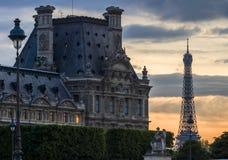 PARIS-APRIL 29: Right wing of Louvre Museum Stock Photos