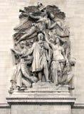 Paris - Arc de Triomphe [1]. Paris (France). The Arc de Triomphe stands in the centre of the Place Charles de Gaulle-de l'Étoile and it is the western end of Stock Image