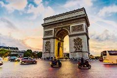 Paris Arc de Triomphe Arkivfoton