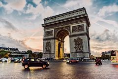 Paris Arc de Triomphe Royaltyfria Bilder