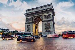 Paris Arc de Triomphe Arkivbild