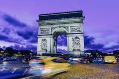 Paris Arc de Triomphe Fotografering för Bildbyråer