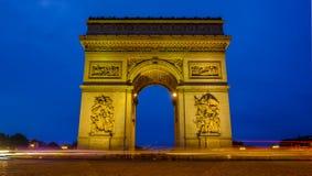 Paris Arc de Triomphe fotos de stock royalty free