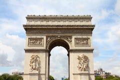 Paris - Arc de Triomphe. Paris, France - famous Triumphal Arch (Arc de Triomphe) located at the end of Champs-Elysees street. UNESCO World Heritage Site Stock Photography