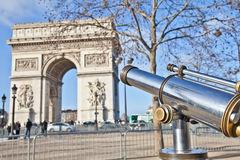 Paris - Arc de Triomphe Foto de Stock Royalty Free