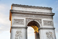 Paris Arc de Triomphe Royaltyfri Bild