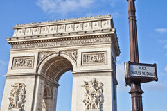 Paris - Arc de Triomphe Royalty Free Stock Photo